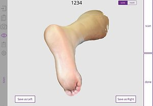 Orthotics using 3D foot scanning. 3D image